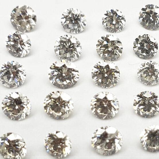 Round shape loose Lab Grown HPHT Diamond